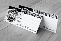 Print Design Gift Certificates