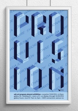 Provision Poster Design Blue