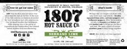 1807 Label Design Lime