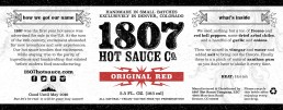 1807 Label Design Red