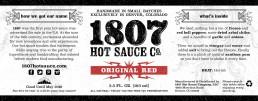 1807 Label Design Red