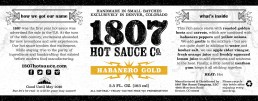 1807 Label Design Gold