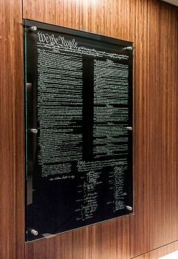 Glass Constitution Installation