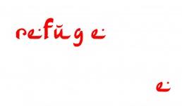 Refugee Typographic